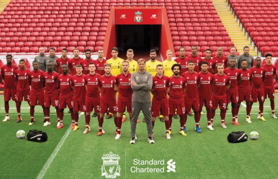 Jurgen klopp and team Liverpool 2019