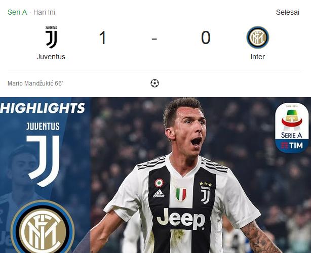 Lagi Dan Lagi, Juventus Memenangkan Pertandingan Serie A 2018