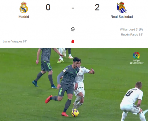Liga Spanyol 2018/2019 Real Madrid Vs Real Sociedad 0-2